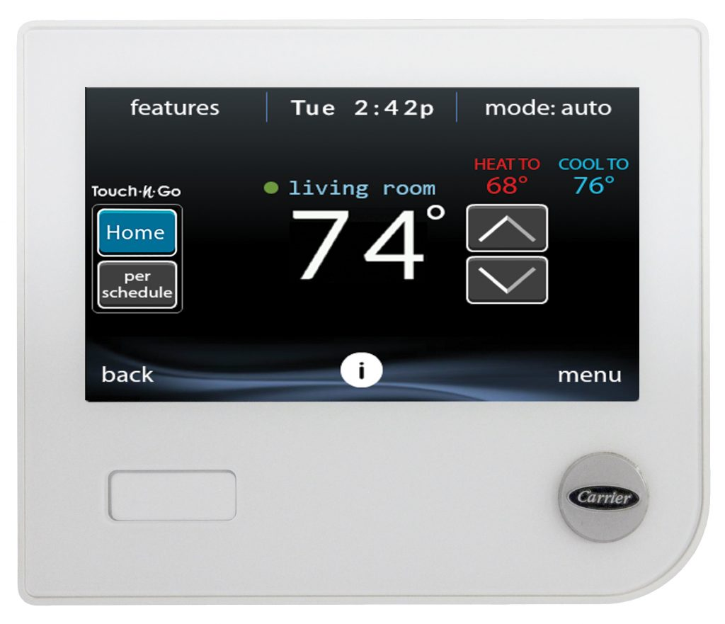 Change the batteries in your thermostats when you change the batteries in your smoke detectors.
