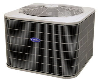 The Comfort Series Heat Pump by Carrier offers Weatherarmor protection and a 10-year parts warranty.
